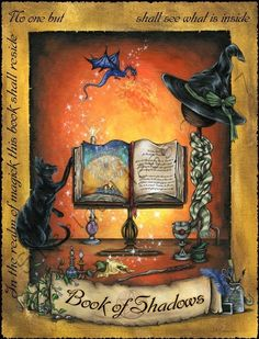 Book of Shadows Blessing spell pages by steelgoddess on Etsy, $14.95