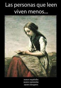 Las personas que leen viven menos...