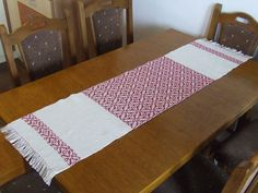 Hand Woven Table Runner Christmas Decor Christmas Table Runner Woven Cotton  Runner White Red Table Decor Xmas Decorations Table Linens Stars