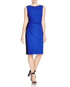 DIANE von FURSTENBERG Laura Color Block Ruched Sheath | Bloomingdale's