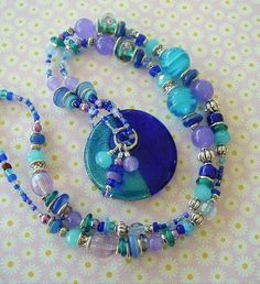 Boho Necklace Colorful Jewelry Bohemian Beaded by BohoStyleMe