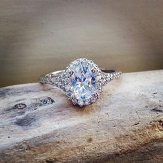 Luxury Jewelry  2017/2018 : Would you wear this stunning oval #diamond engagement ring? instagram.com/ pi