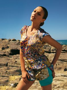Burda sewing Tunic top #103. I think that I could try this!