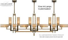 Great for over a long table or an island. Fine Art Lamps - Brand Lighting Discount Lighting - Call Brand Lighting Sales 800-585-1285 to ask for your best price!