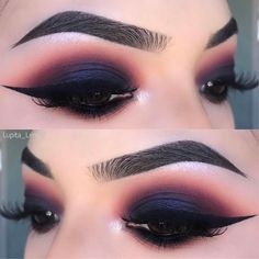 Ahhh - Smokey Eye Makeup Tips Pictures Smokey Eyeshadow, Smokey Eye Makeup, Eyeshadow Makeup, Eyeliner, Eyeshadow Palette, Smoky Eye, Navy Blue Eyeshadow, Makeup Brushes, Navy Blue Makeup