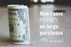 How I save money on large purchases (18% or more!) How to save money on large purchases with Raise.com. I cannot believe the discounts they offer!
