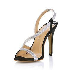 Simple Sparkling Glitter Stiletto Heel Sandals Party/Evening Shoes – USD $ 99.99