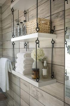 Need more storage and want a modern look for your bathroom or kitchen? This hanging shelf kit has been expertly hand forged and is now available for sale. You can achieve this trendy custom look for a fraction of the cost of hiring a designer. This listing is for a hanging shelf kit. The kit includes 12 foot long C hooks and 24 eye bolts. Both the C hooks and the eye bolts are finished in flat black. This kit includes all of the metal hardware that you wil
