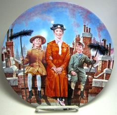 Chim chim cher-ee decorative plate from our Other collection Julie Andrews Mary Poppins, Jane And Michael, Disney Treasures, Disney Collectibles, Plate Stands, Cool Mugs, Cher, Decorative Plates, Films