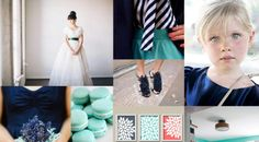 Navy is a versatile color: dress it up, glam it up, make it modern, or as seen here, go casual by having a coral navy aqua wedding. Aqua Coral Weddings, Navy Mint Wedding, Aqua Wedding Colors, Coral Aqua, Coral Accents, Turquoise, Wedding Themes, Wedding Blog, Dream Wedding