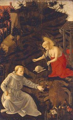 Pseudo Pier Francesco Fiorentino - San Girolamo penitente - post 1450 - ante 1499 - Accademia Carrara di Bergamo Pinacoteca
