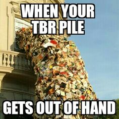 Repin if your TBR pile is getting out of hand #readinghumor http://writersrelief.com/