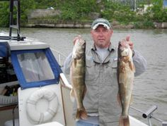 Great fishing on Lake Erie at Put-in-Bay, Ohio.