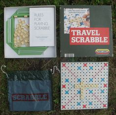 Spear s Games Travel Scrabble Complete With Board, Tiles, Trays, Bag & Rules
