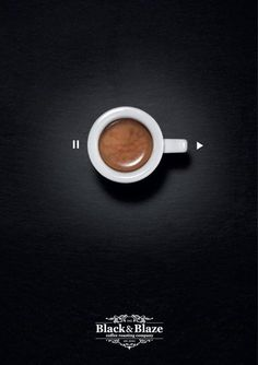 Poster - Coffee turns you on > can be an UI/UX idea / #concept #navigation #webdesign