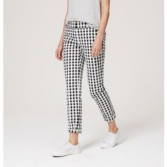 "These fun, Loft gingham pants are adorable and a throwback to my youth--perfect for summer.  More fun summer fashion on   www.mytributejournal.com under ""Summer Is My Favorite New Verb!"""