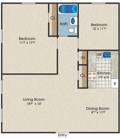 tiny house single floor plans 2 bedrooms | Apartment Floor Plans ...