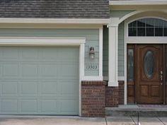 Greenish Gray Paint Front Doors