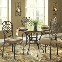 Steve Silver Wimberly 5-Piece Dining Table Set    Nice but good for a small family, and small space