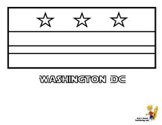 Washington DC District Of Columbia Flag Coloring Page SEE The Official Photograph
