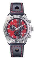 Show details for Men Davosa Speedline Red Display Leather And Nato Strap Chronograph Quartz