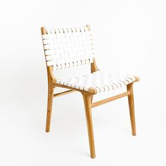 DINING CHAIR | tanner in white by barnaby lane