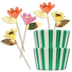 Fancy Flowers Cupcake Kit | www.LayerCakeShop.com