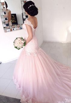 bridal dress Mermaid ruffle prom dress engagement dress.