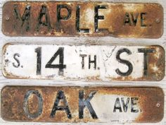 Vintage Steel Street Signs.  Industrial decor by DriveInService, $35.00