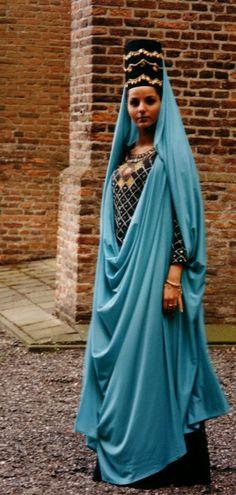 Redesigning of a female cloth from ancient Persia (Parthian era, 200 BC.), Designer: Maryam Entezami