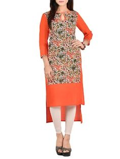 Woman Clothing, Kurti, Casual Wear, Print Patterns, High Low, Android, High Neck Dress, Dresses For Work, Product Description