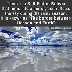 Salt flat in Bolivia. Inspirational for the pan in DG known as Saint Aleiandre's Mirror.