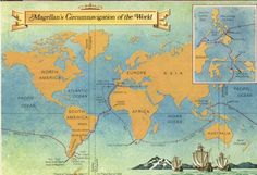Routes taken by Ferdinand Magellan (LC) The routes Ferdinand Magellan took to navigate his way to the Pacific Ocean.