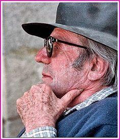 Gilles Deleuze en St. Leonard de Noblat - 1994. A partir de una fotografía de Hélène Bamberger