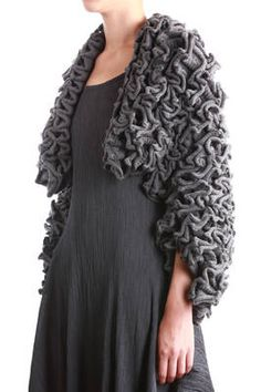 3D knit light grey jacket - KRISTIINA KARINEN