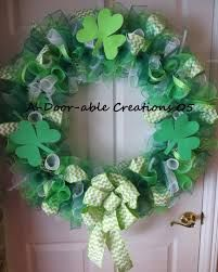 Image result for st patrick's deco mesh wreath