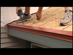 How to install a metal roof ridge cap for Union's MasterRib panel. - YouTube