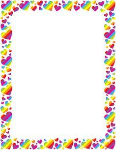 Corazón del arco iris Frontera