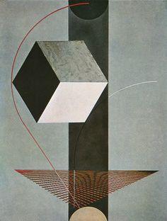 Estetiska källor: El Lissitsky Proun 99, 1923, Bahaus.