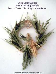 Nature Crafts Handmade Pagan Grain Mother Demeter Goddess Of The Harvest, Fertility & Wealth. Pagan Wiccan Handfasting Gift Home Blessing Wreath Corn Dolly, Wiccan Crafts, Beltane, Handfasting, Nature Crafts, Gods And Goddesses, Yule, Fertility, Harvest