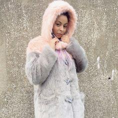 Get this look: http://lb.nu/look/8508871  More looks by Shady Kleo: http://lb.nu/shadykleo  Items in this look:  Lazy Oaf Hooded Faux Fur Coat   #alternative #kawaii #pastel #ootd #fur #cute #love #style #coat