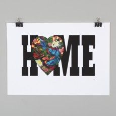 Home is Where the Heart is Print by Flox