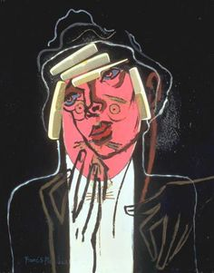 """Francis Picabia  """"The Handsome Pork-Butcher""""  Oil and mixed media on canvas  1924-6"""