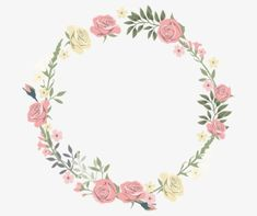 Rose decorative circular border PNG and Clipart Deco Floral, Motif Floral, Floral Design, Floral Logo, Flower Border Png, Floral Border, Fond Design, Rose Clipart, Instagram Highlight Icons