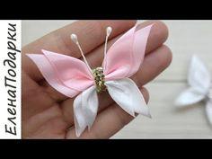 Diy Lace Ribbon Flowers, Ribbon Flower Tutorial, Cloth Flowers, Ribbon Art, Diy Ribbon, Ribbon Crafts, Ribbon Bows, Flower Crafts, Fabric Flowers