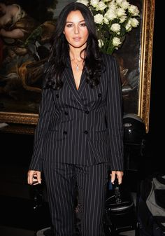 Image result for monica bellucci in suit