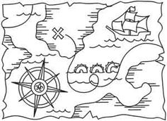 Pirate Treasure Map | Urban Threads: Unique and Awesome Embroidery Designs