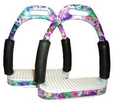 Saddles Tack Horse Supplies - ChickSaddlery.com Floral English Flexi-Stirrups   TAYLORRR