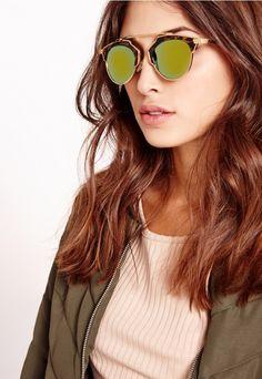 T-bar Leopard Sunglasses