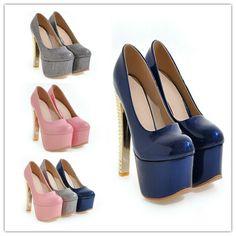 Damen Pumps High Heels Partyschuhe OL Fashion Gr.30-48 Platform Elegant Stiletto